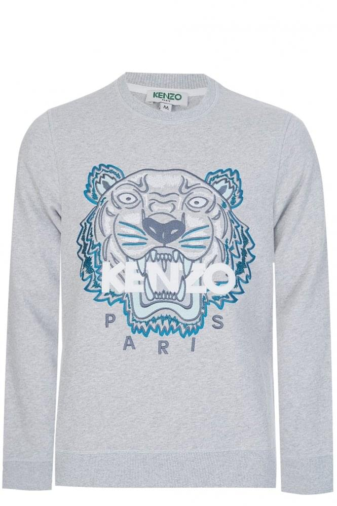 KENZO Embroidered Tiger Sweatshirt Grey