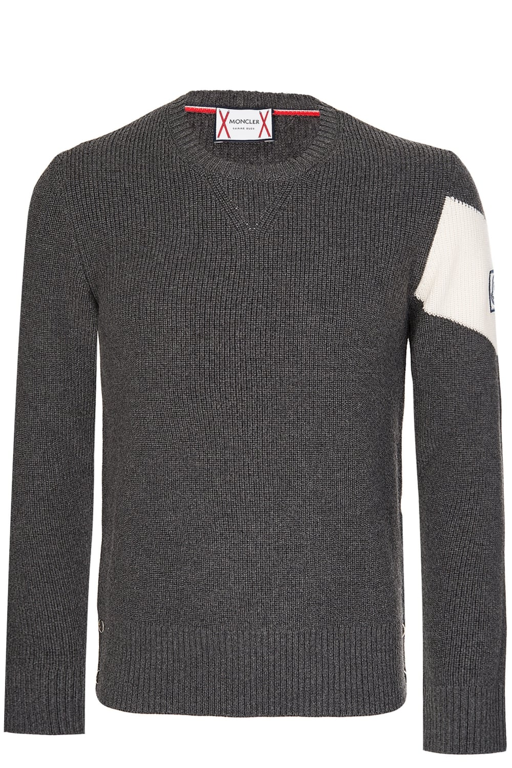 1287ee78b MONCLER Knitted Angle Stripe Jumper Charcoal - Clothing from Circle ...