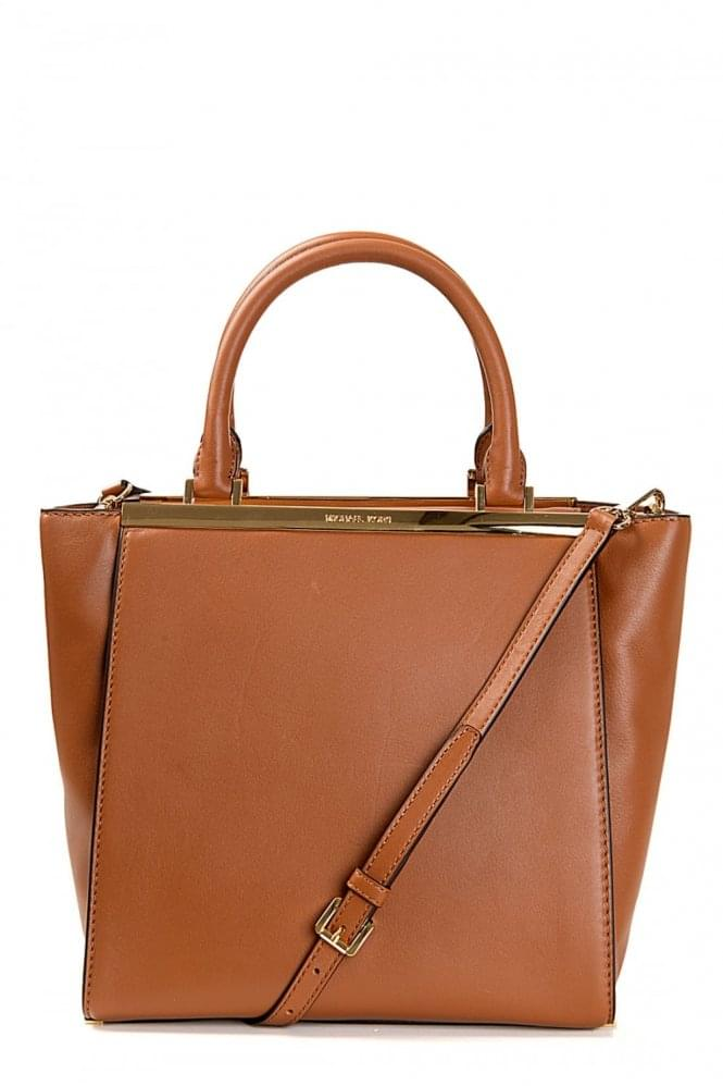 MICHAEL KORS Lana Medium Leather Tote Tan