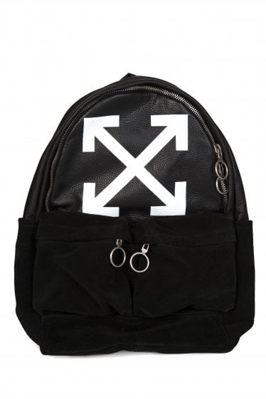 LEATHER LOGO BACKPACK