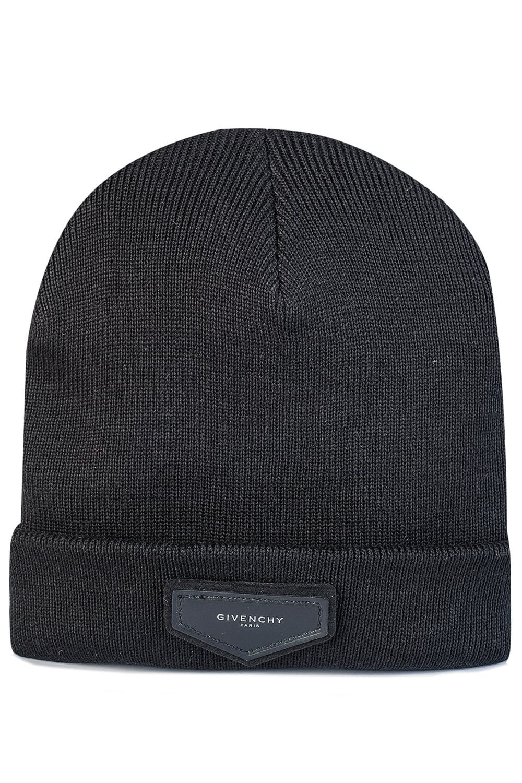 73906ed7233 GIVENCHY Leather Patch Beanie Hat - Uncategorised from Circle Fashion UK