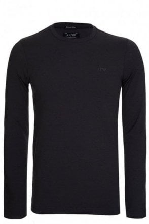 Armani Jeans Long Sleeved Slim Fit Logo Tshirt