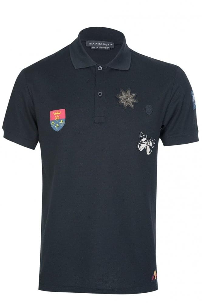 ALEXANDER MCQUEEN Mainline Alexander McQueen Applique Badges Polo Black