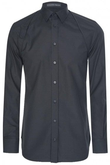 Mainline Alexander McQueen Binding Harness Shirt Black