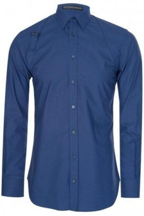Mainline Alexander McQueen Binding Harness Shirt Blue