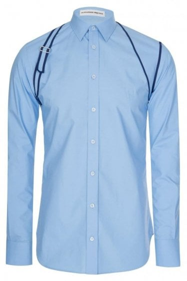 Mainline Alexander McQueen Binding Harness Shirt Light Blue