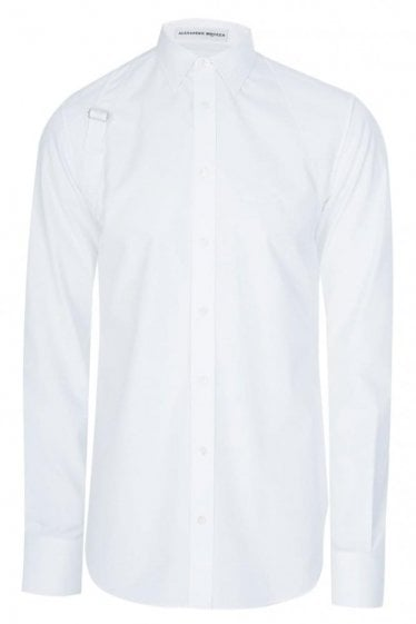 Mainline Alexander McQueen Binding Harness Shirt White