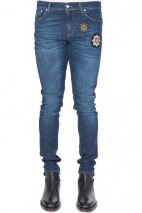 Mainline Alexander McQueen Cotton Stretch Jeans