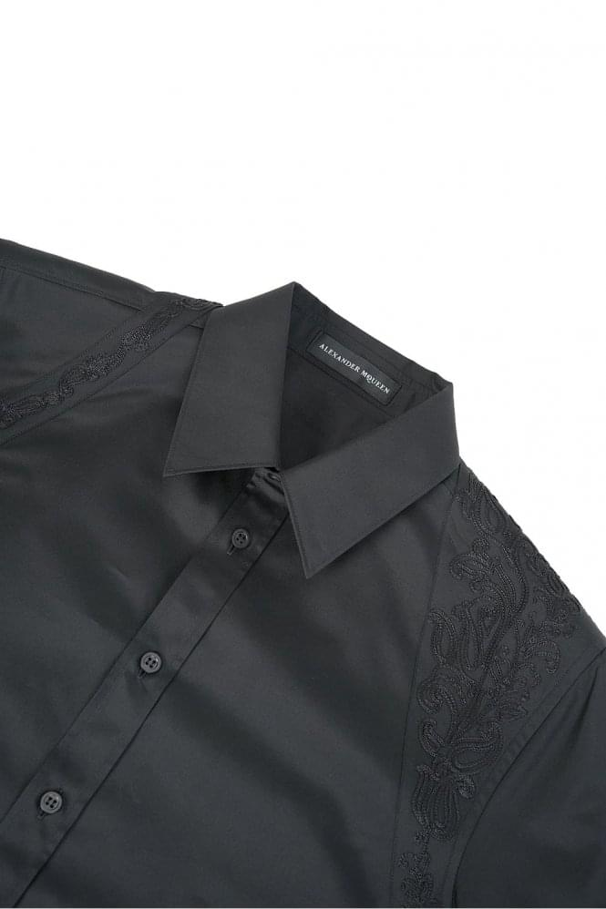 ALEXANDER MCQUEEN Mainline Alexander McQueen Embroidered Harness Shirt Black