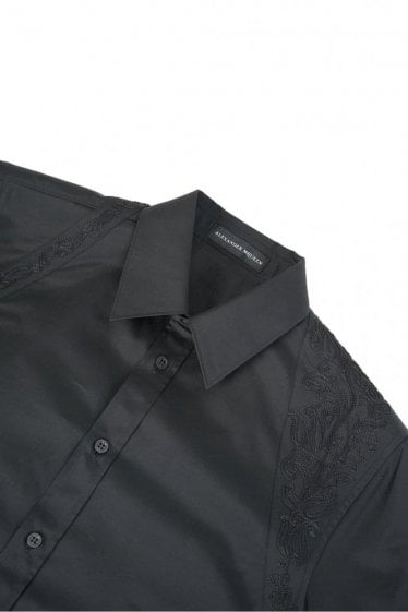 Mainline Alexander McQueen Embroidered Harness Shirt Black