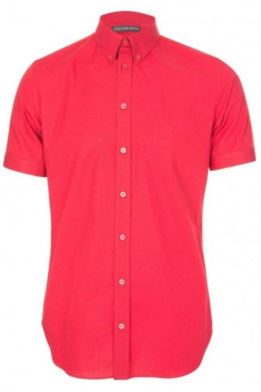 Mainline Alexander McQueen Grosgrain Shirt Red