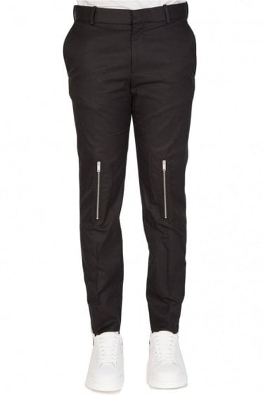 Mainline Alexander McQueen Multi Zip Trousers Black