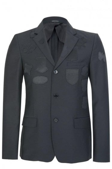 Mainline Alexander McQueen Placed Badges Jacket Black