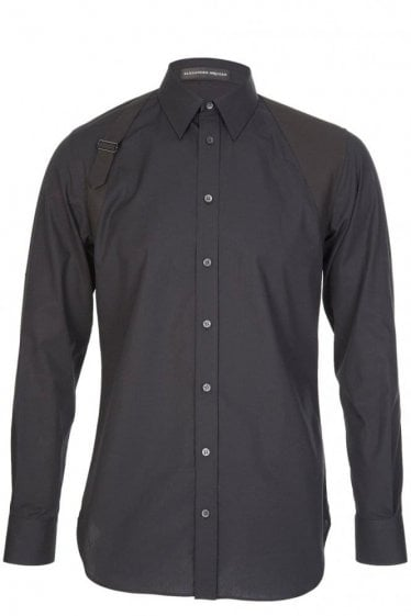 Mainline Alexander McQueen Tonal Harness Shirt Black