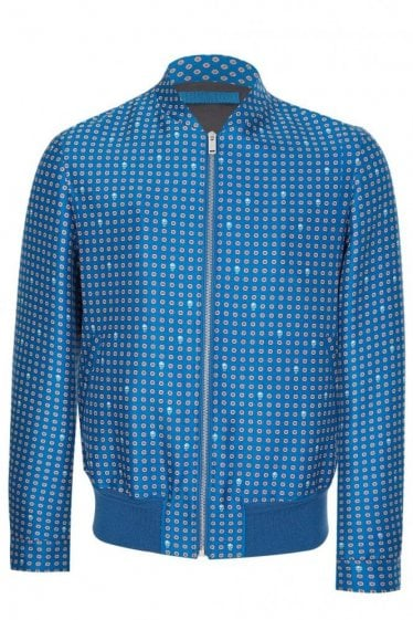 Mainline Alexander McQueen Wool Silk Mix Jacket Blue