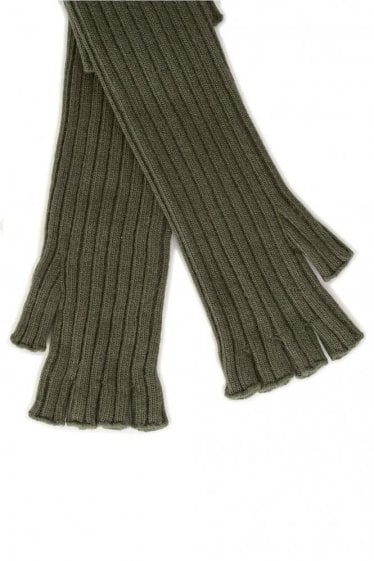Maison Margiela Cable Knit Gloves Green