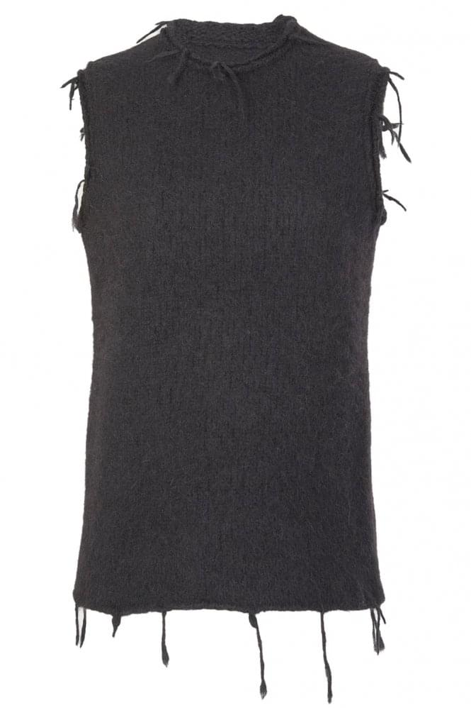 Maison Margiela Womens Tassle Wool Vest