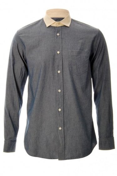 Marc Jacob Contrast Collar Shirt Blue