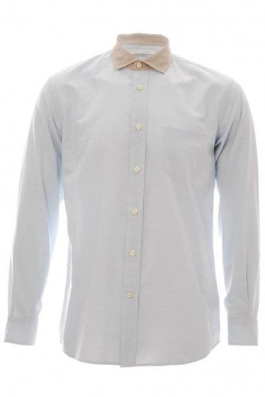 Marc Jacob Contrast Collar Shirt Light Blue