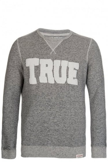 True Religion Textured Logo Sweatshirt