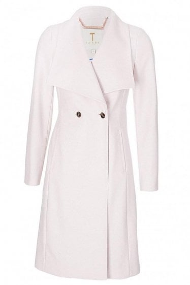 Ted Baker Women's Melton Wrap Coat Pink