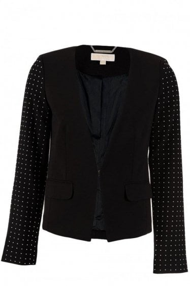 Michael Kors Black Studded Blazer