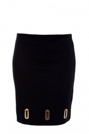 Michael Kors Oval Grommet Navy Skirt