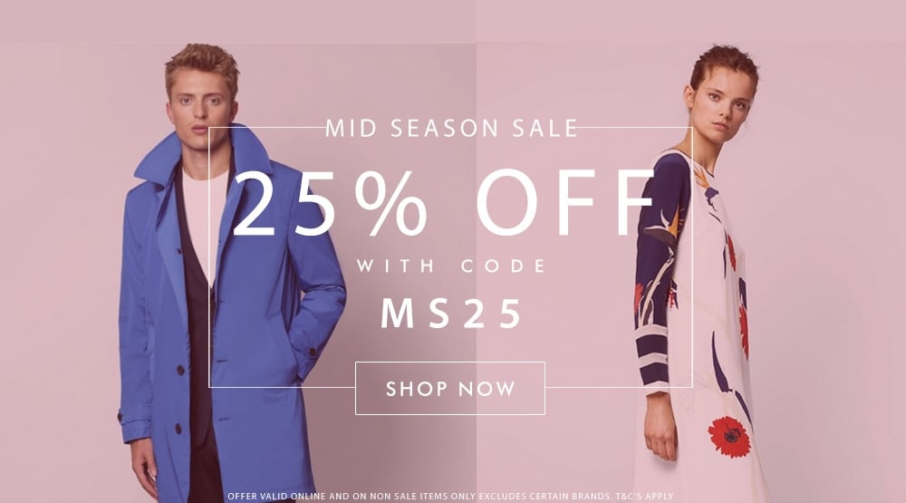 Mid Season Sale 25% Off