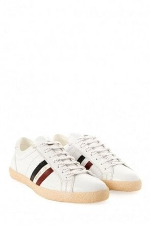 Moncler Monaco White Leather Trainers