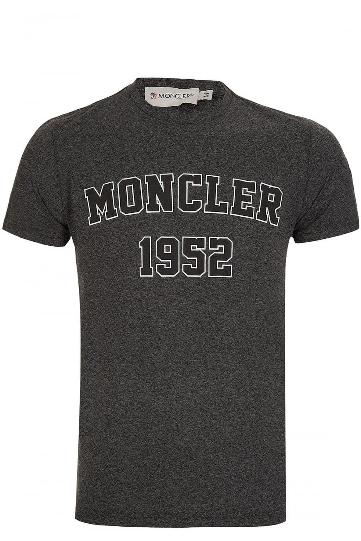 53ed535138cf MONCLER Moncler 1952 Print T-Shirt Grey - Clothing from Circle ...