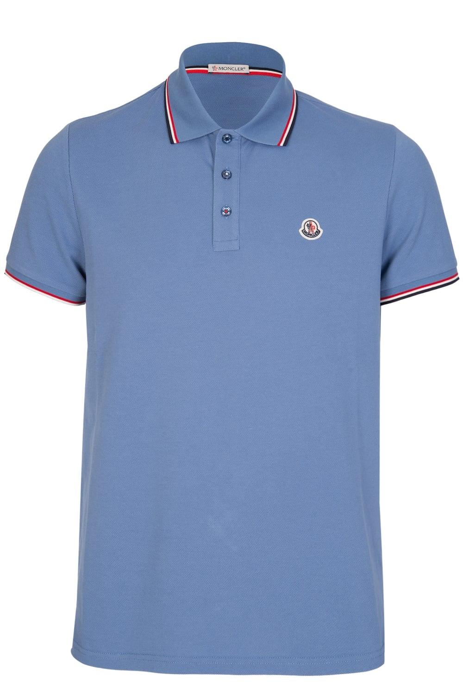 1e1d8fca Moncler Chest Logo Classic Polo Sky Blue