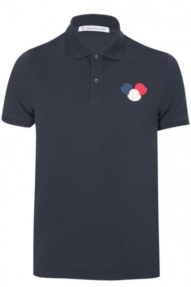 Moncler Chest Logo Polo Black
