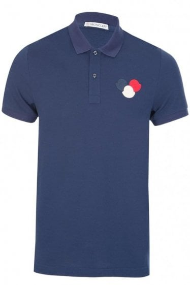Moncler Chest Logo Polo Navy
