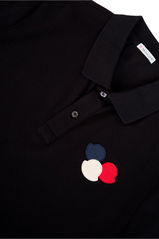 ae4296e9 Moncler Chest Logo Polo Short Sleeved Black