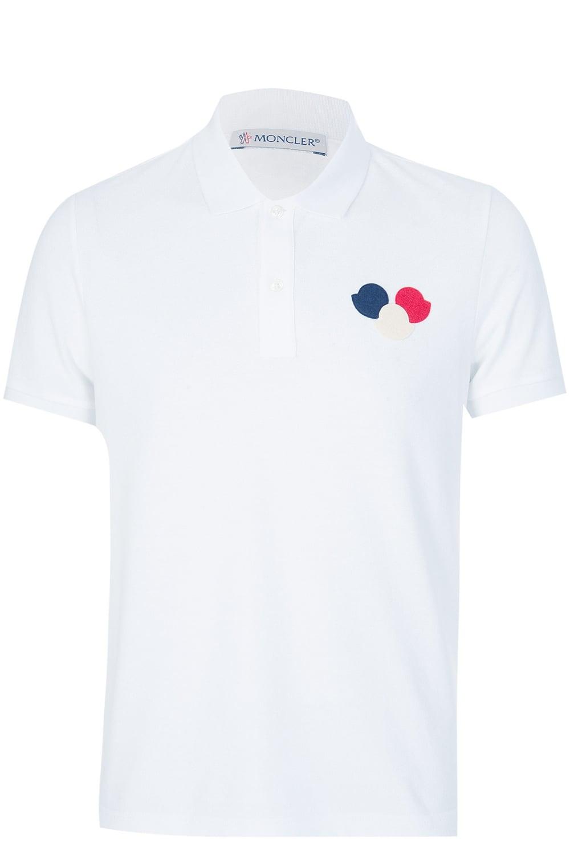 82580742 Moncler Chest Logo Polo White