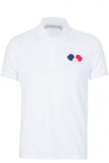 Moncler Chest Logo Polo White