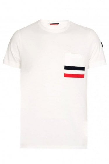 Moncler Chest Pocket Tshirt White
