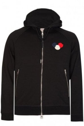 Moncler Combination Item Zip Hoodie Black