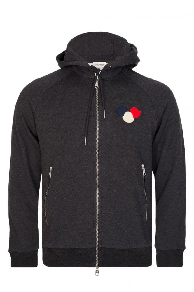 MONCLER Combination Item Zip Hoodie Charcoal