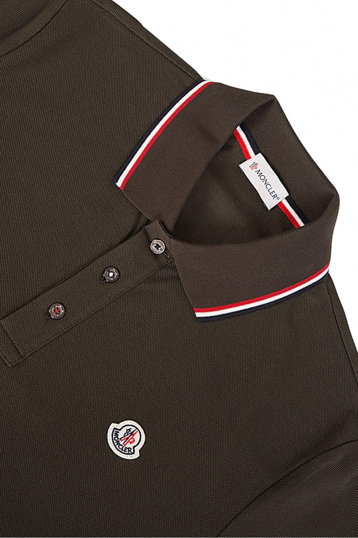 25d039b46 Contrast Trim Long Sleeve Polo Khaki