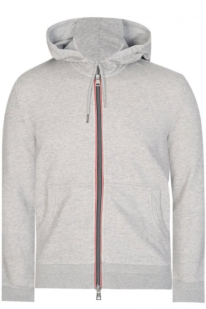 moncler grey zip hoodie