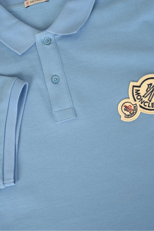 moncler light blue polo