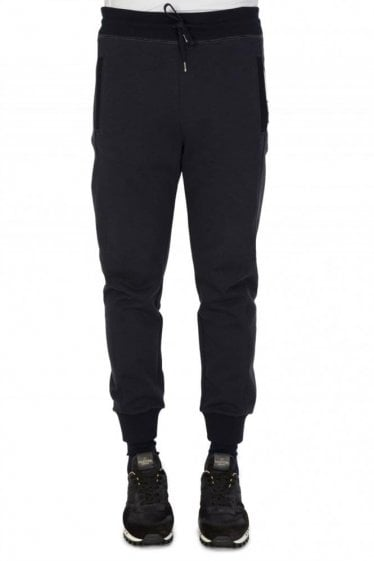MONCLER GAMME BLEU ANGLED STRIPED JOGGERS