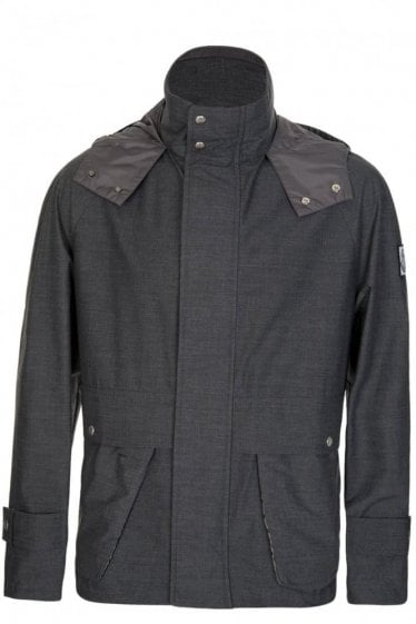 Moncler Gamme Bleu Charcoal Hooded Jacket