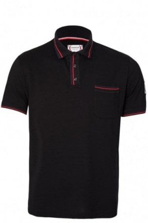 Moncler Gamme Bleu Chest Pocket Polo Black