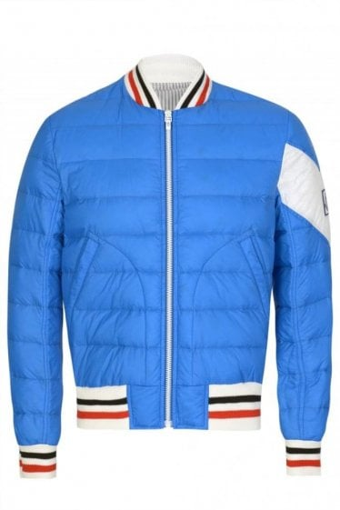 Moncler Gamme Bleu Padded College Jacket Blue