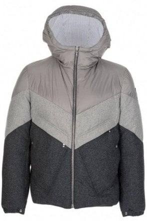 Moncler Gamme Bleu Paneled Mix Fabric Jacket