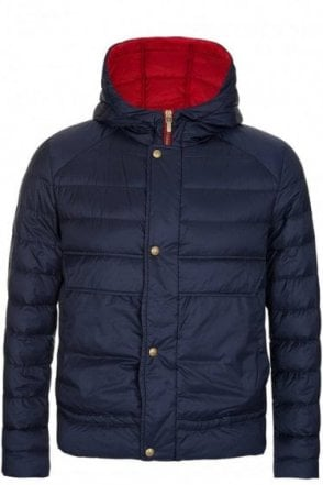 Moncler Gamme Bleu Quilted Hooded Jacket Navy