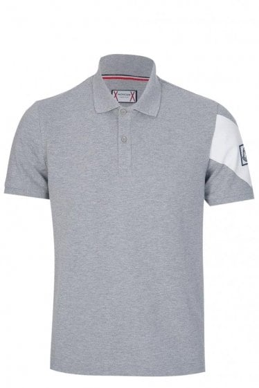 Moncler Gamme Bleu Short Sleeved Polo Grey