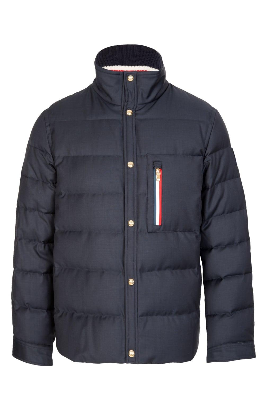 Moncler Gamme Bleu Stripe Pocket Jacket Navy